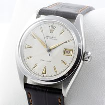 Rolex Oysterdate Edelstahl Herrenuhr VINTAGE Service 07/16