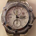 TAG Heuer Aquaracer Automatic Chronograph Watch Diamond Bezel...