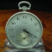 Eterna Chronometre 900 Silber Open Face Taschenuhr Von Ca. 1930