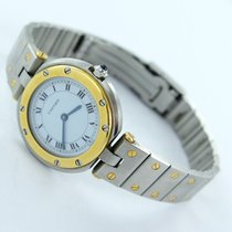 Cartier Santos Vendome Damen Herren Uhr Stahl/gold 33mm