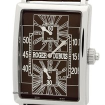 Roger Dubuis Much More Dual Time 18k White Gold Chocolate Dial
