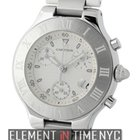 Cartier Must 21 Collection Chronoscaph Stainless Steel White...