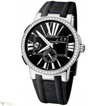 Ulysse Nardin Executive Dual Time Black Diamonds Bezel Men`s...
