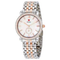 Michele Gracile White Mother of Pearl Dial Two-tone Steel...