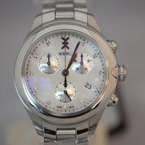 Ebel Onde Chronograph Perlmutt Diamanten Quarz 36mm NEU