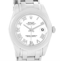 Rolex Masterpiece Pearlmaster Midsize White Gold Watch 81209...