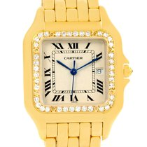 Cartier Panthere Jumbo 18k Yellow Gold Diamond Watch