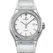 Hublot 581.ne.2010.lr.1204 Classic Fusion Quartz 33mm Diamonds...