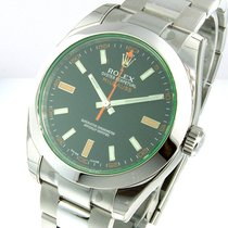 Rolex 116400gv Green Crystal Milgauss Steel
