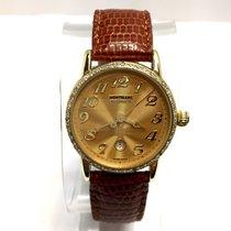 Montblanc Meisterstuck 18k Yellow Gold Ladies Watch W/ Diamond...