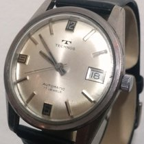 Technos Vintage Automatic Date FNF-905 17J Steel Silver...
