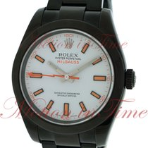 Rolex Milgauss, White Dial - PVD/DLC on Bracelet