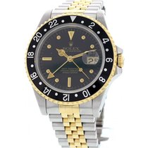 Rolex Men's Oyster Perpetual GMT Two Tone 18K Yellow Gold...