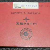 Zenith vintage red  warranty booklet watch gold rare