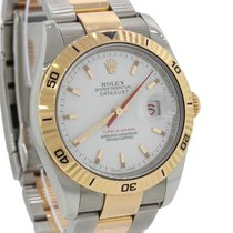 Rolex DateJust Turn-O-Graph 18k Rose Gold Steel 36mm Oyster Watch