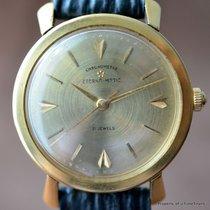 Eterna-MATIC 18K CHRONOMETER SOLID GOLD DIAL RARE MID-CENTURY...