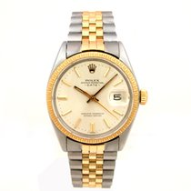 Rolex Datejust 14k Gold & Steel #1505 with Paper - Vintage