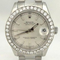 Rolex Midsize Rolex Stainless Steel Datejust Diamond Bezel...