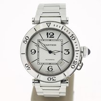Cartier Pasha Seatimer 40mm Steel Automat White Dial (B&P2...