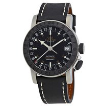 Glycine Airman 17 GMT Automatic Black Dial Men's Watch