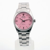 Rolex 34mm Stainless Steel Air-King 5500 Model - Pink Dial -...