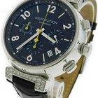 Louis Vuitton Tambour Q112G Stainless Steel Diamond Chronograp...