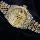 Rolex Datejust Date 2tone 18k Gold/ss W/gold Tapestry Dial 79173