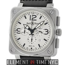 Bell & Ross Aviation Chronograph Stainless Steel Silver...