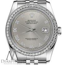 Rolex Ladies Rolex 31mm Datejust Stainless Steel Slate Grey...