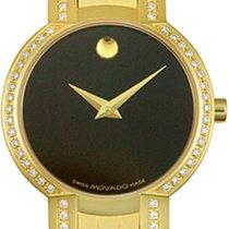 Movado Faceto Diamonds Quartz 18k Golden Plated 0605147