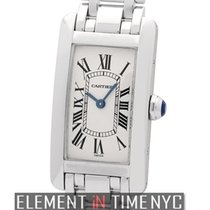 Cartier Tank Collection Tank Americaine 18k White Gold Ladies...