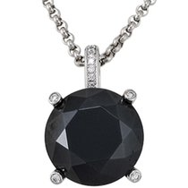 Chopard 18K White Gold Black Chrome Treated Pendant Diamond...