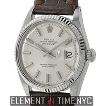 Rolex Datejust Steel & White Gold Bezel Silver Index Dial...