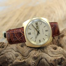 Eterna-Matic Sevenday Vintage Herren Armbanduhr 750er Gelbgold