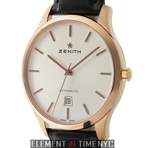 Zenith Captain Central Second 18k Rose Gold 40mm Silver Dial...