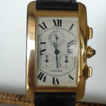 Cartier Tank Americaine 18 kt gold chronograph