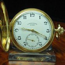 Cyma Chronometre 14kt 585 Gold Savonette Sprungdeckel Taschenuhr