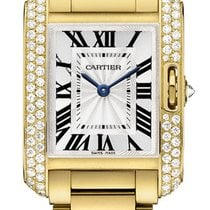 Cartier Tank Anglaise SMALL 18kt Yellow Gold DIAMOND wt100005