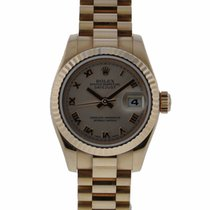 Rolex Oyster Perpetual 26mm Ladies Datejust 18kt Rose Gold...