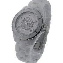 Chanel Full Size J12 with Pave Diamond Dial H1759