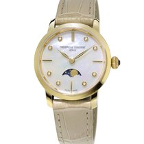 Frederique Constant Lady Slim Line Gold-tone Case Moonphase