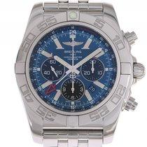 Breitling Chronomat GMT Chronograph Stahl Automatik Stahlband...