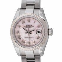 Rolex - Ladies Datejust : 179174 decorated rose mother of...