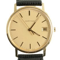 Certina 115:9299.69 Leather Gold Dial Manual winding