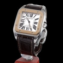 Cartier Santos 100 Steel and Gold Automatic Men Size