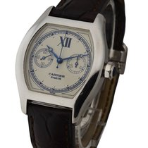 Cartier W1525851 Tortue Monopoussoir 34mm Manual in White Gold...