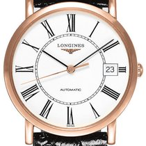 Longines Elegant Collection Automatic 18kt Rose Gold Mens...