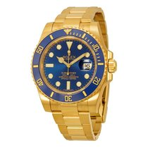 Rolex Submariner 18K Yellow Gold Rolex Oyster Automatic Mens...
