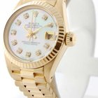 Rolex Ladies Datejust 18K Yellow Gold Automatic Watch w/ MOP...