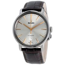 Rado Diamaster XL Automatic Silver Dial Brown Leather Men'...